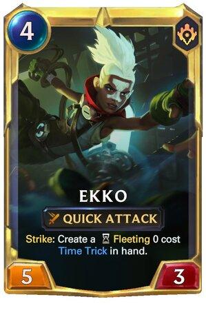Ekko level 2 (LoR Card)