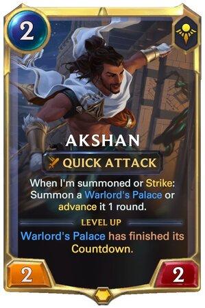 Akshan level 1 (LoR Card)
