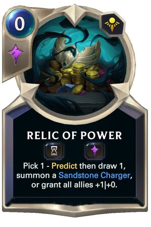 Relic of Power (LoR Card)