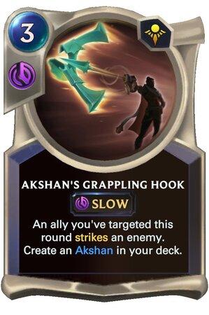 Akshan's Grappling Hook (LoR Card)