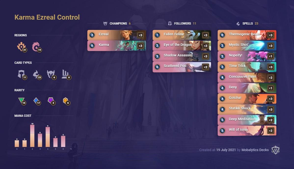 Karma Ezreal Control (Lor deck 7-19)