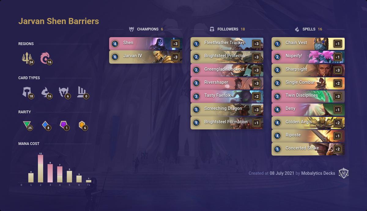 Jarvan Shen Barriers (7-7 LoR deck)