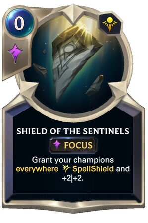 Shield of the Sentinels (LoR Card)