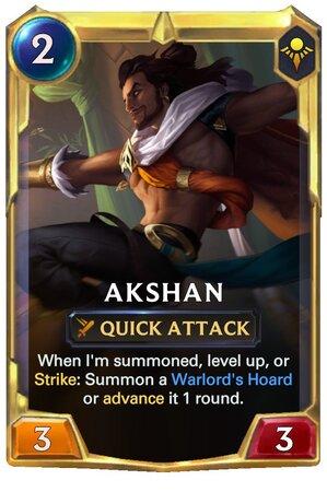 Akshan level 2 (LoR Card)