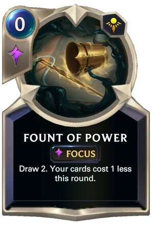 Fount of Power (LoR Card)
