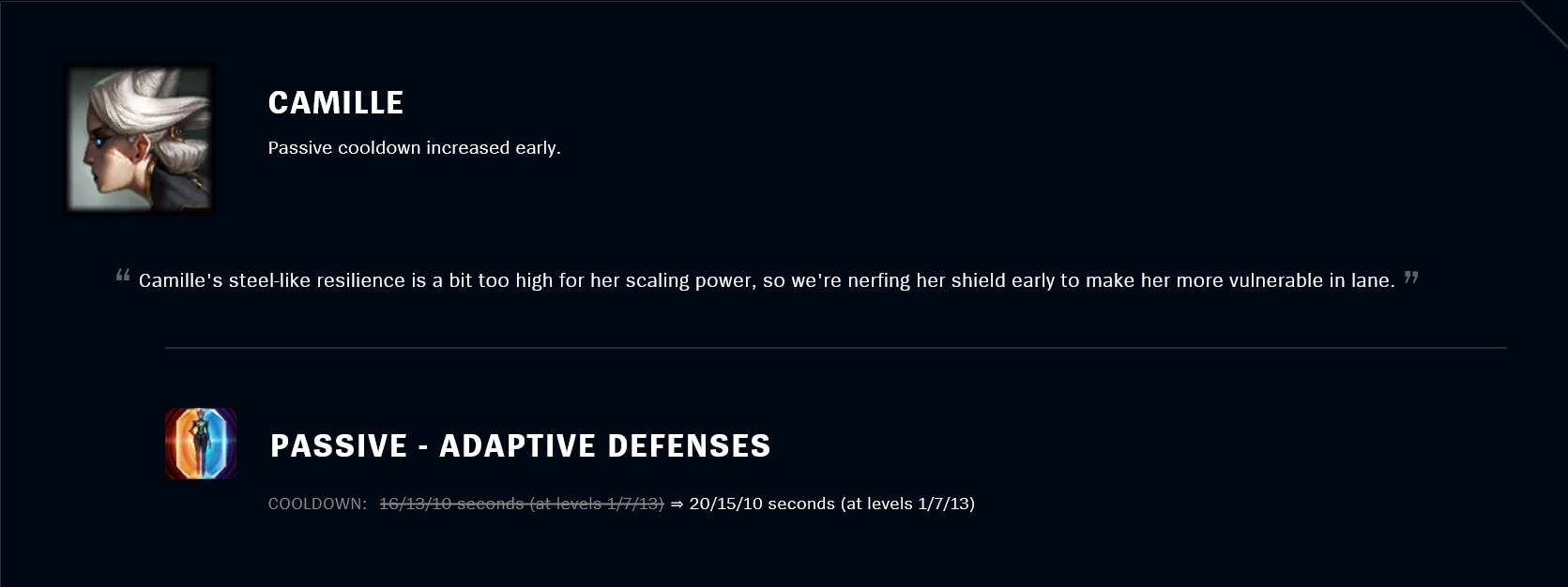 Patch 11.18 Camille