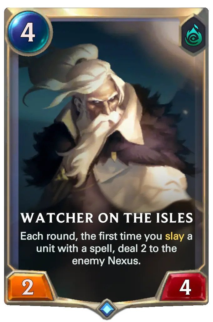watcher on the isles (lor card)