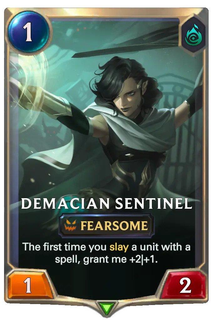 Demacian Sentinel (LoR card)