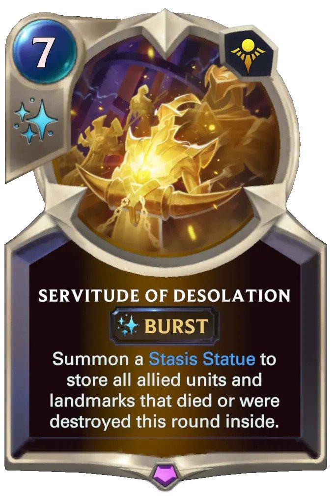 servitude of desolation (lor card)