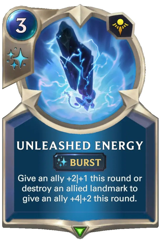 unleashed energy (lor card)