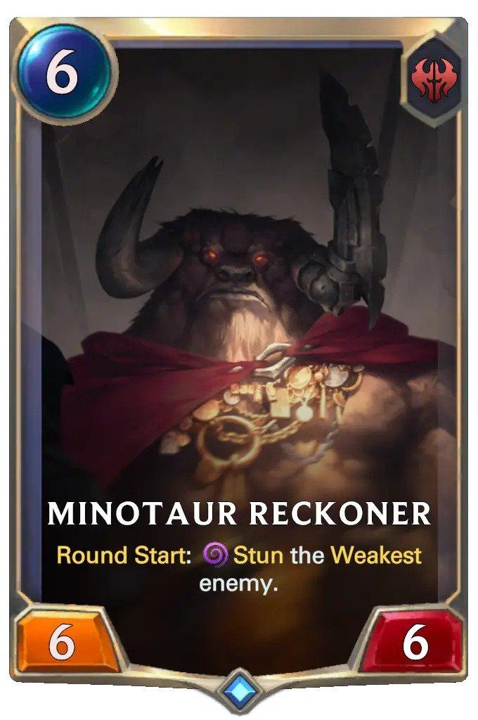 Minotaur Reckoner (LoR card)