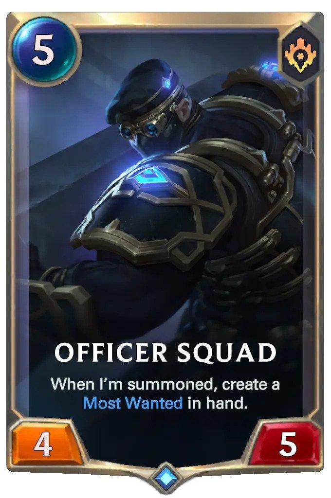 Officer Squad (LoR card)