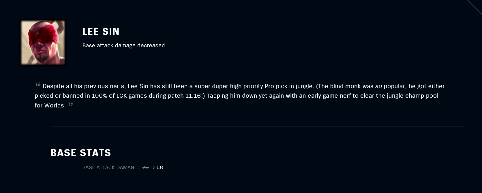 Patch 11.18 Lee Sin