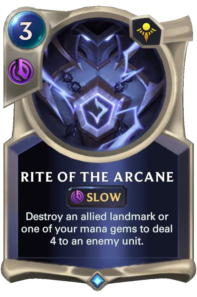rite of the arcane (lor card)