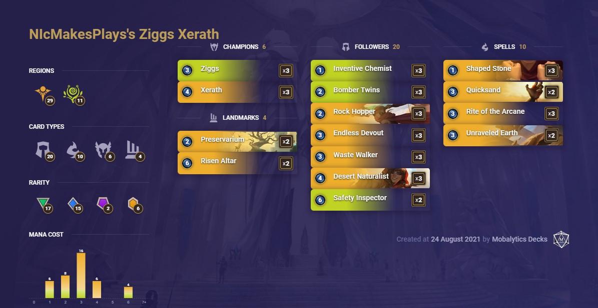 ziggs xerath (lor deck)