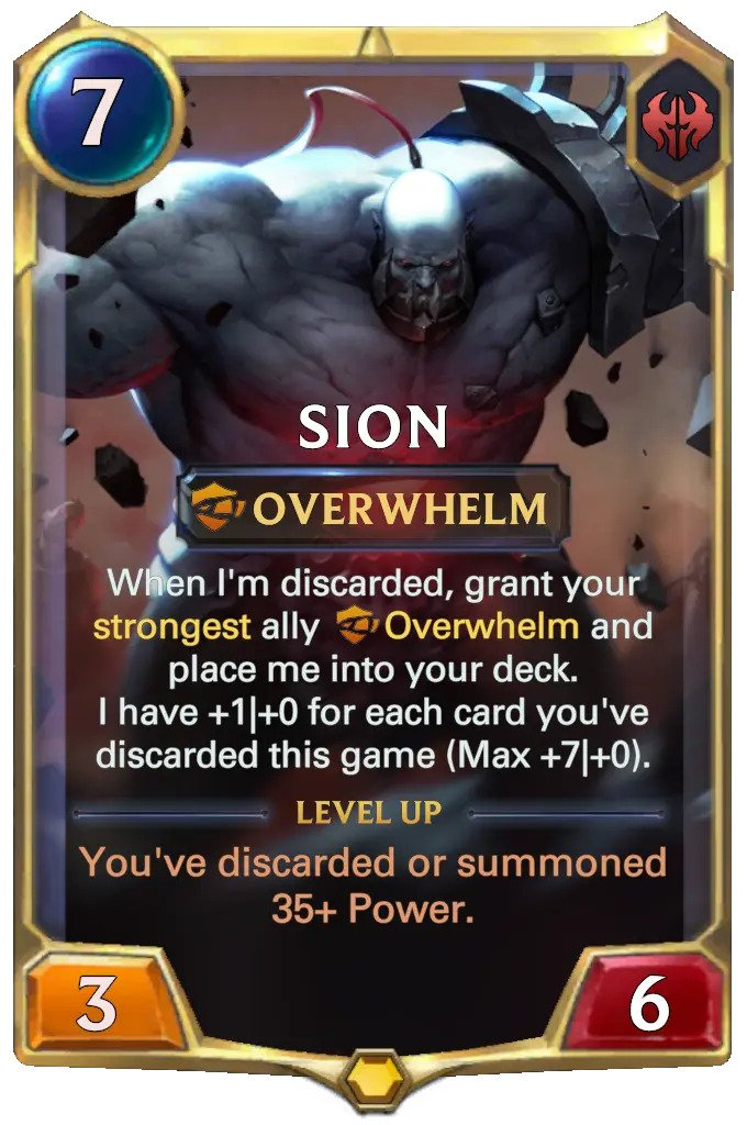 Sion level 1 (lor card)