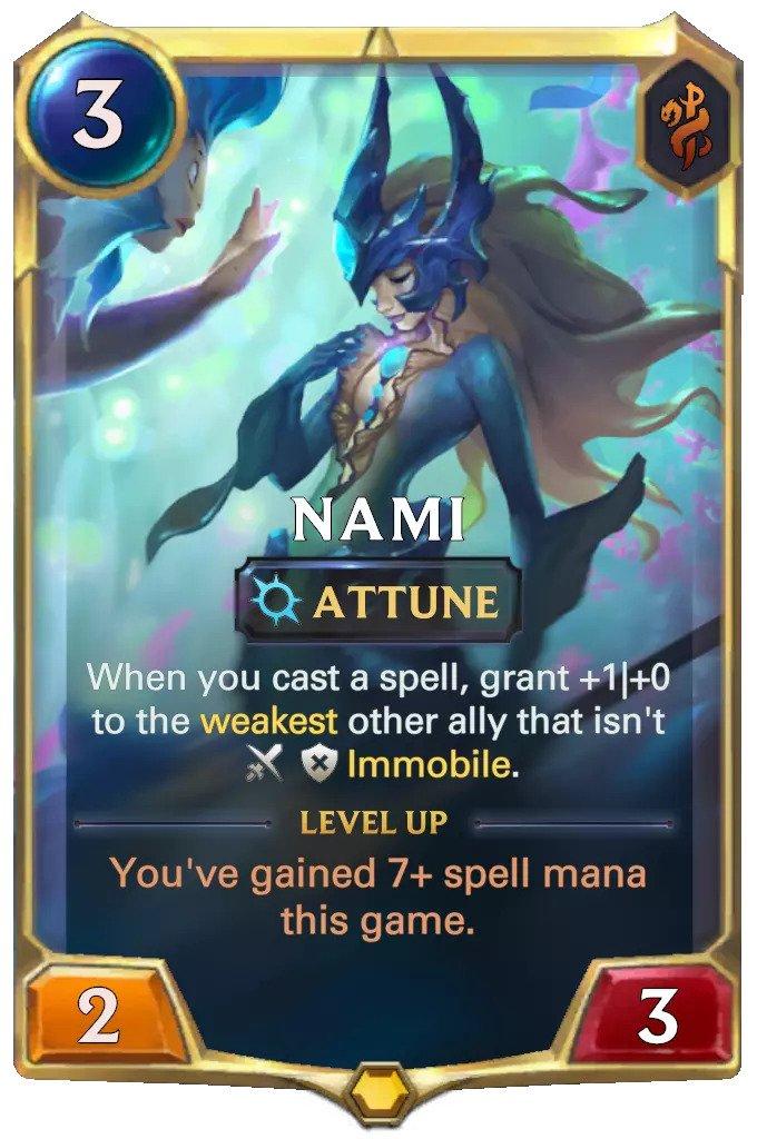 nami level 1 (lor card)
