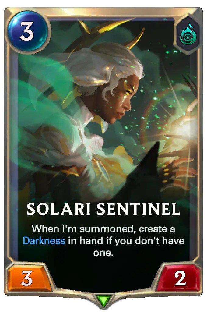 solari sentinel (lor card)