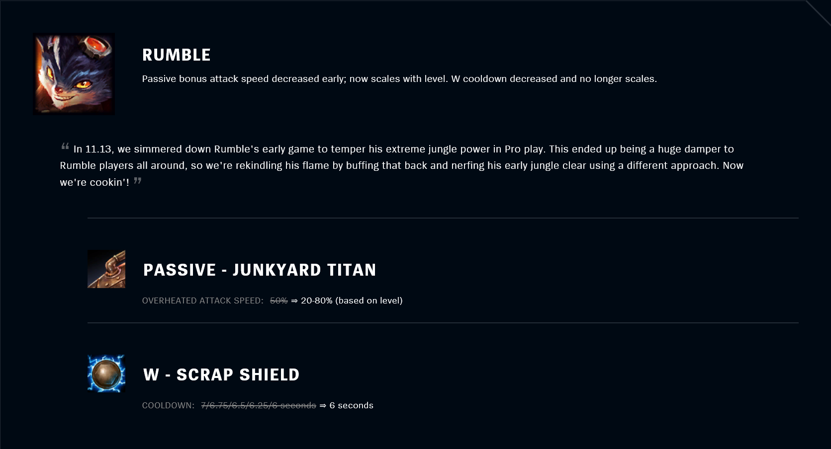 Patch 11.18 Rumble