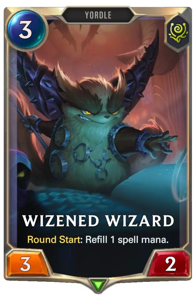 Wizened Wizard (LoR card)