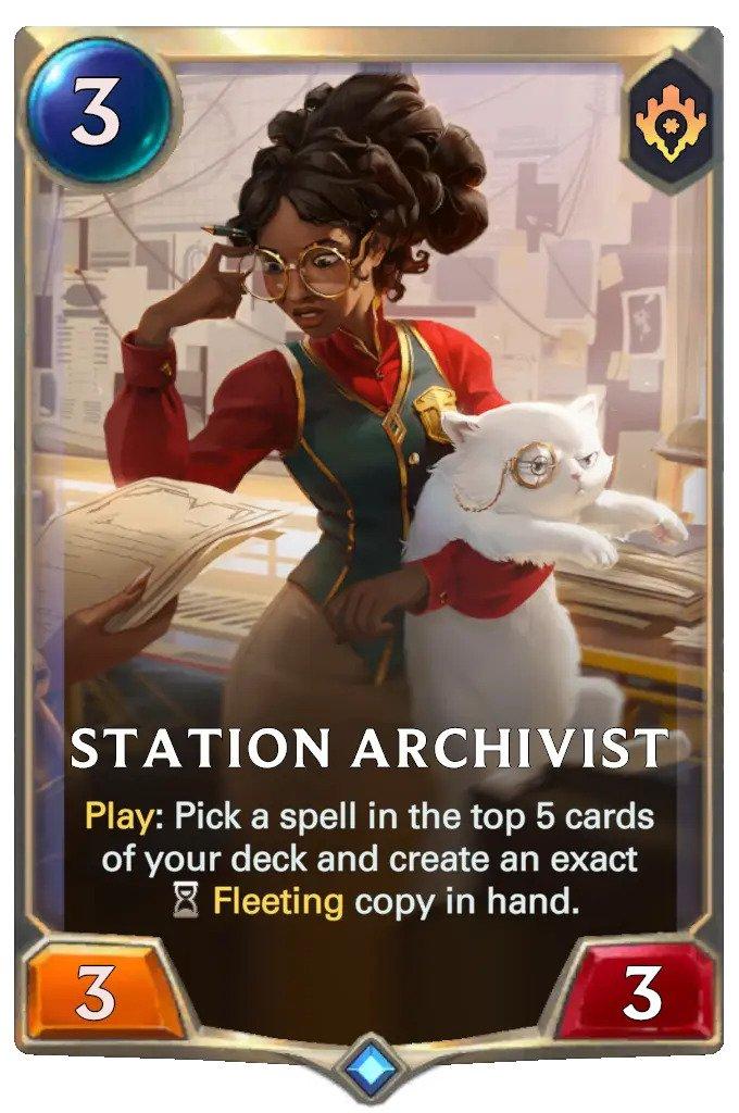 Station Archivist (LoR card)
