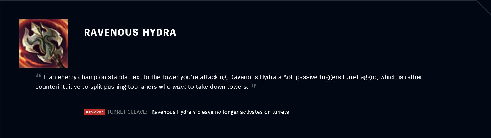 Patch 11.18 Ravenous Hydra