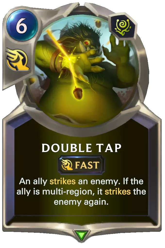 double tap (lor card)