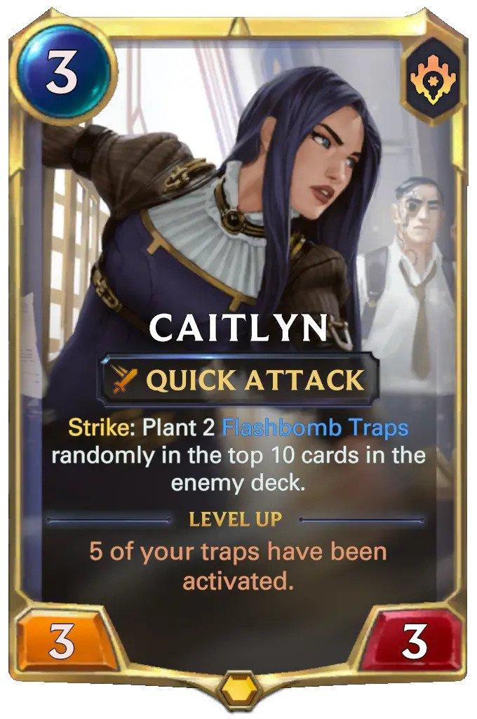 Caitlyn level 1 (LoR card)
