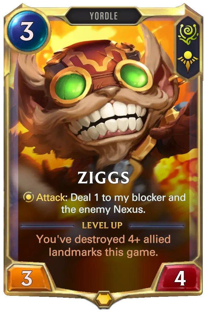 ziggs level 1 (lor card)