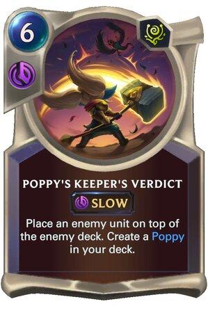Poppy's Keeper's Verdict (LoR Card)