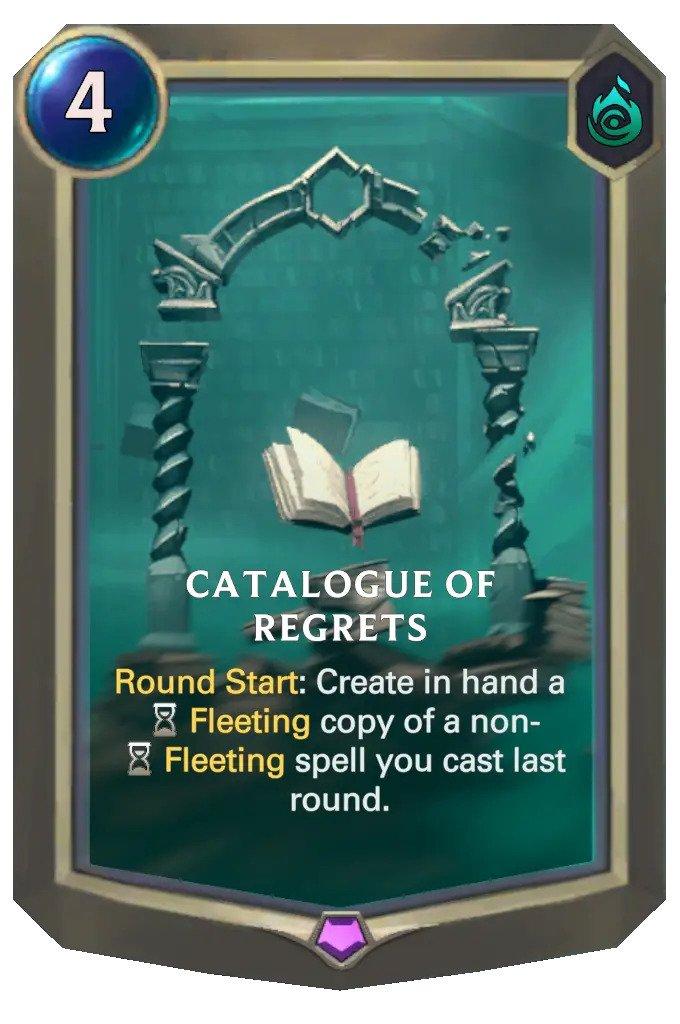 catalogue of regrets (lor card)