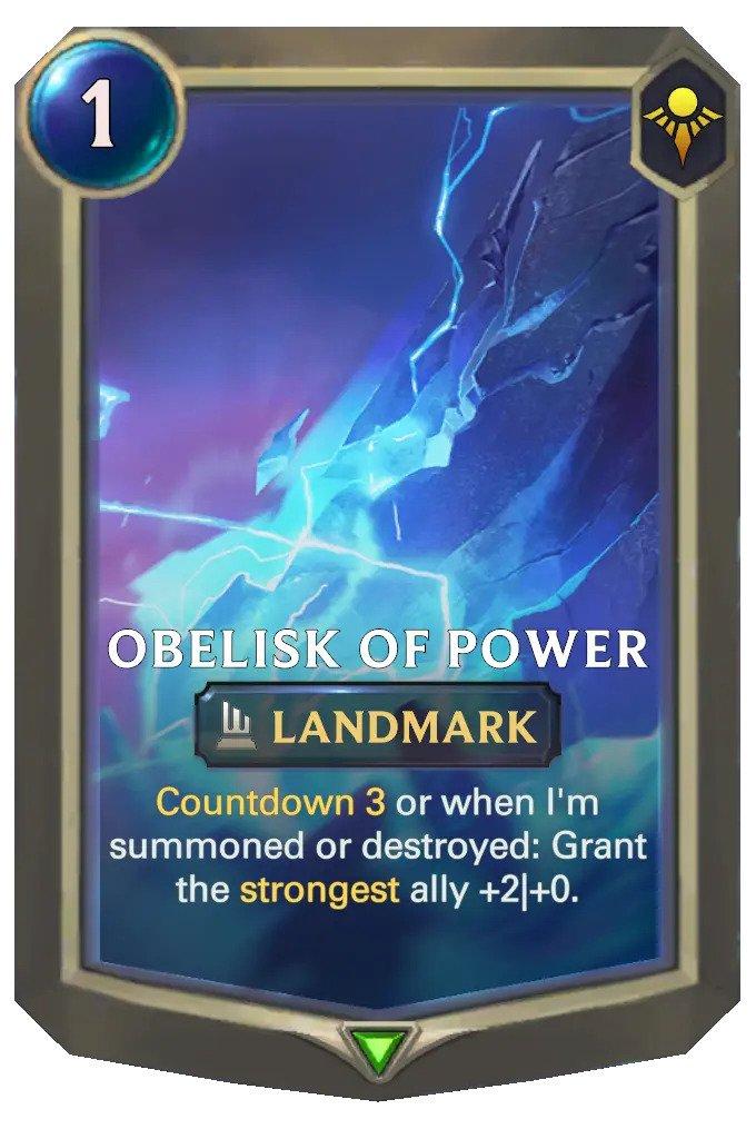 obelisk of power (lor card)