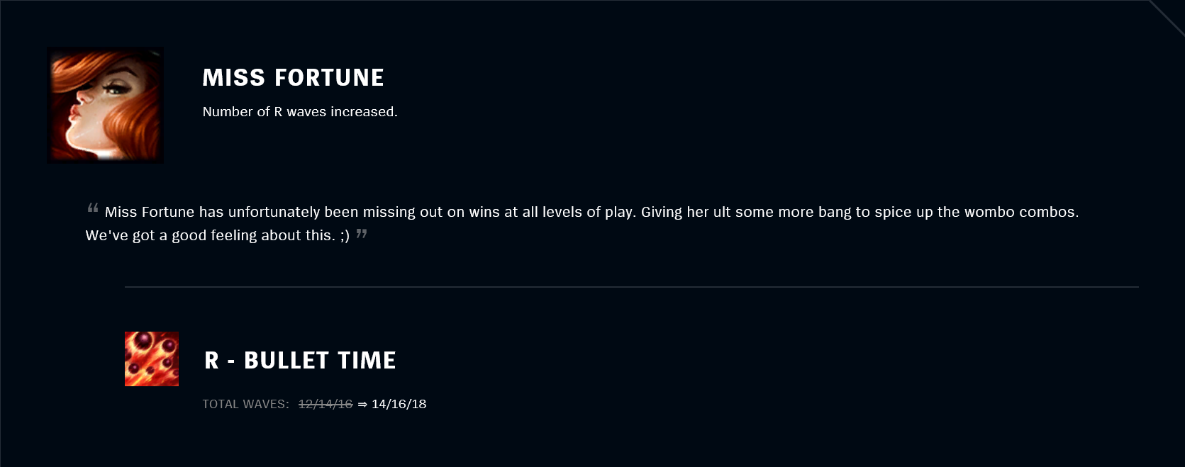 Patch 11.18 Miss Fortune