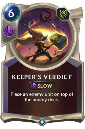 Keeper's Verdict (LoR Card)