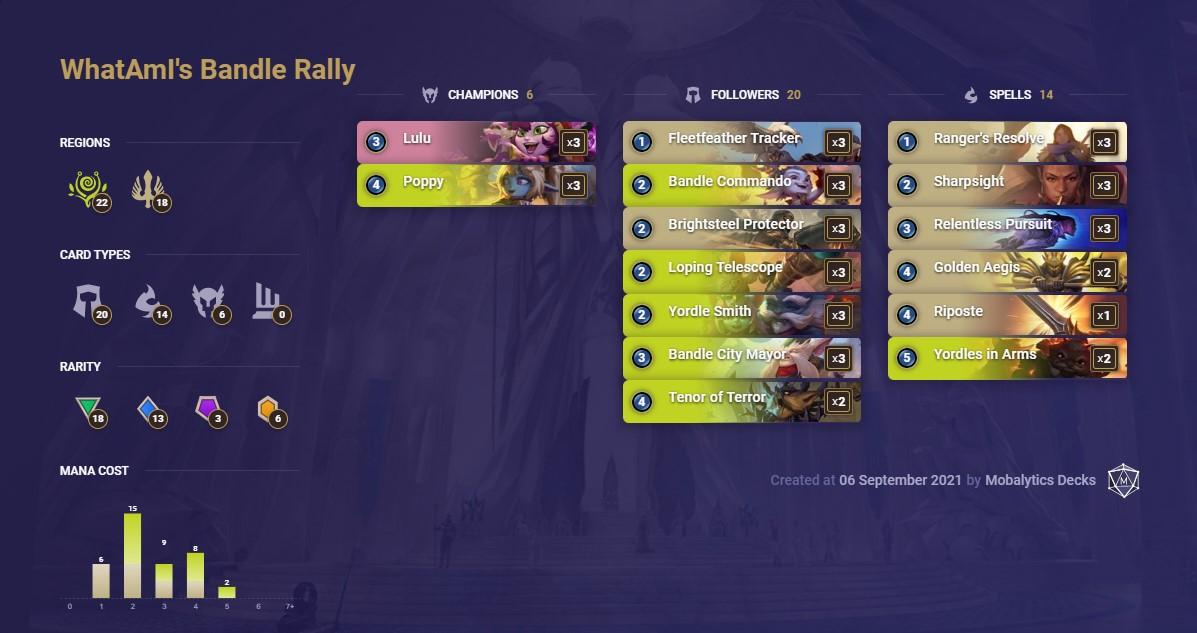 Whatami's bandle rally (lor deck)