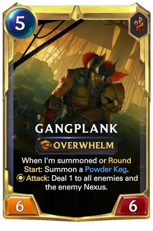 Gangplank level 2 (LoR Card)
