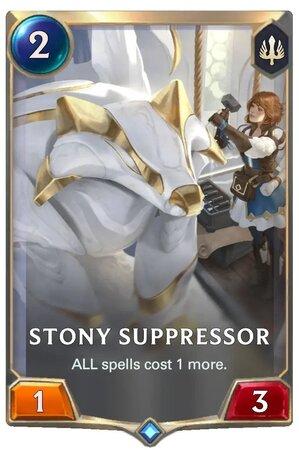 Stony Suppresor (LoR Card)